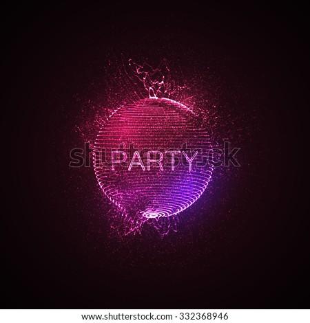 party neon sign 3d illuminated
