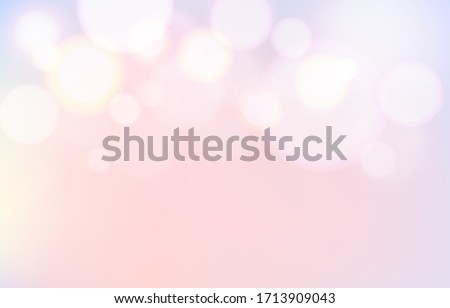 Party pastel lovely bubble pink bokeh background. Soft blur light effect wallpaper. Abstract background bokeh blurred. Shiny bokeh light effect. Vector illustration.