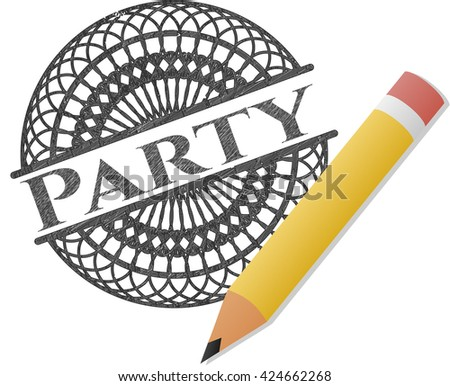 Party pencil emblem
