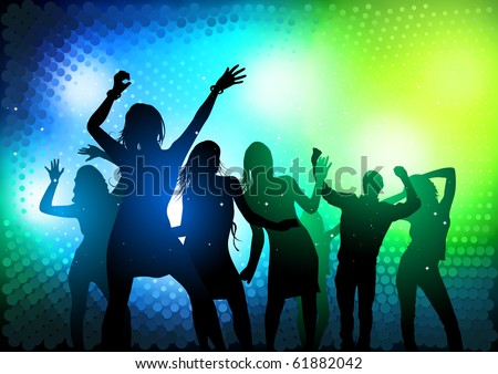 Party People Dancing - vector illustration - stock vector