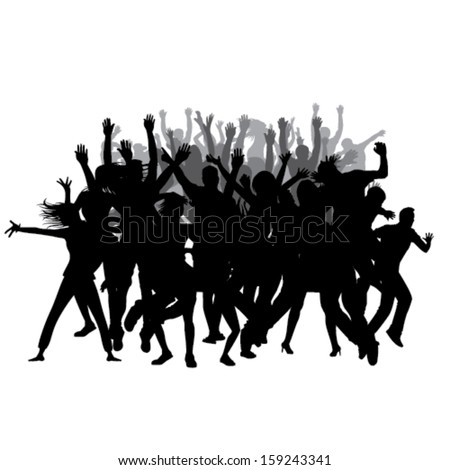 Party People Silhouette Vector Free Party People Silhouettes