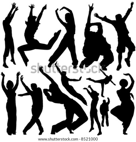 Photos Of People. stock vector : party people