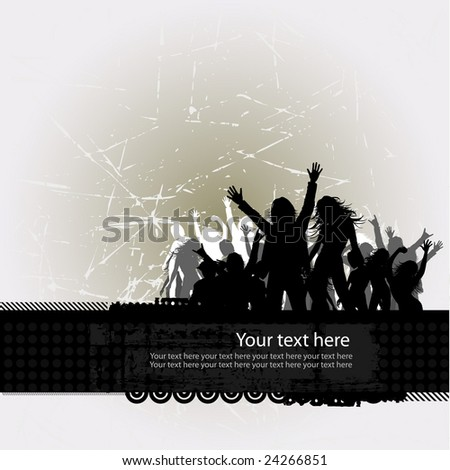 Party peoples, audience cheering success vector background 3
