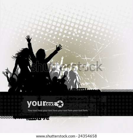 Party peoples, audience cheering success vector background 4