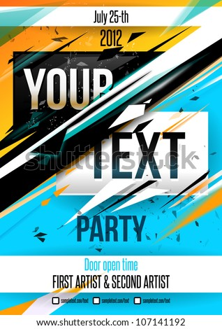 Party poster blue free vector download (10,892 Free vector) for ...