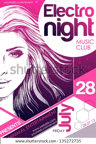 party poster vector