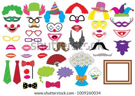 party set clowns glasses