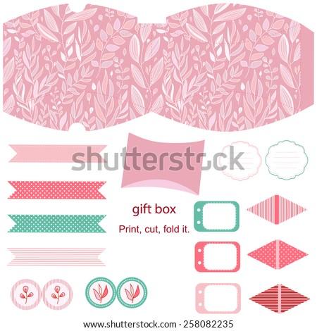 Cupcake box template.