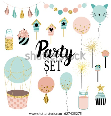 party set of decorations