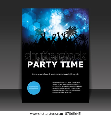 party time   flyer or cover