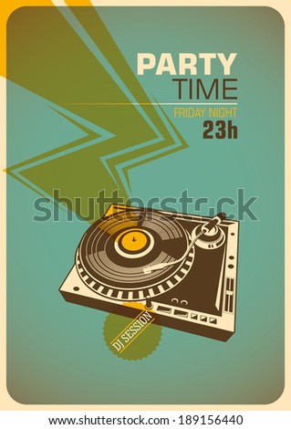 party time poster with