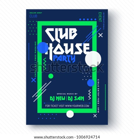 party vector poster template