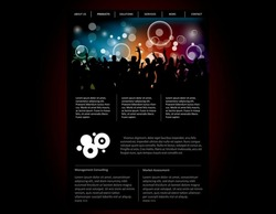 Party website template in editable vector format