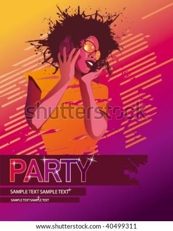 partygirl wallpaper pink