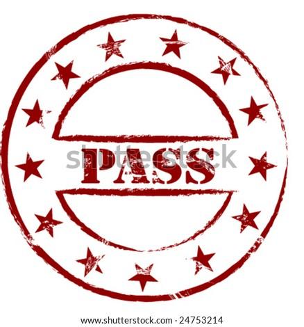 pass rubber stamp Pass Stamp