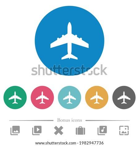 passenger aircraft flat white