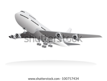 Passenger aircraft leaving ground