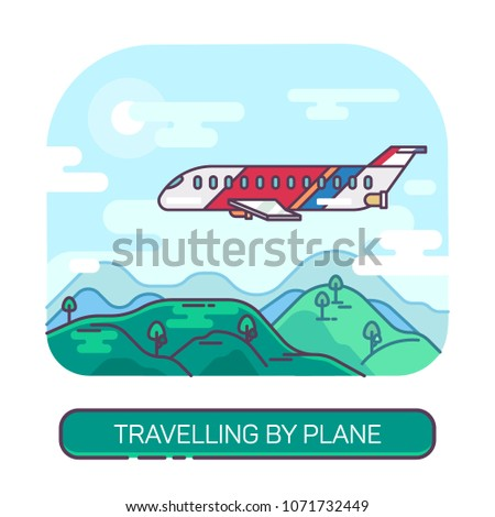 passenger airplane or airbus