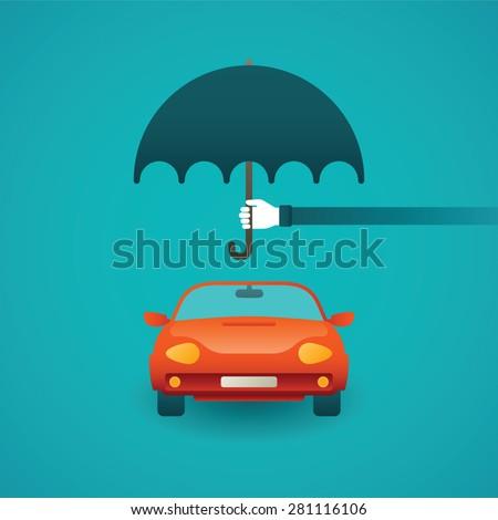 passenger car insurance vector