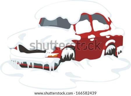 passenger car under the snow