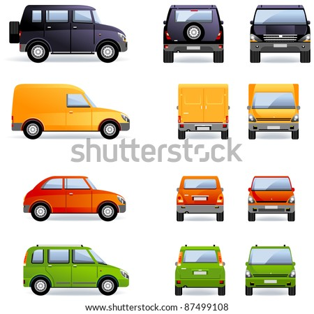 Passenger cars (Set #4).