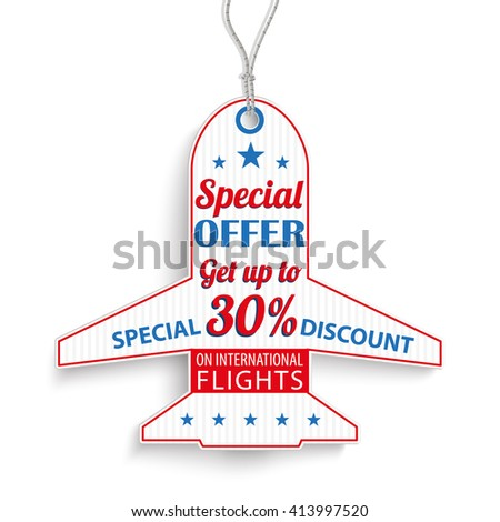 passenger flight price sticker