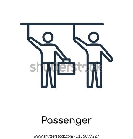 Passenger icon vector isolated on white background, Passenger transparent sign , thin symbols or lined elements in outline style