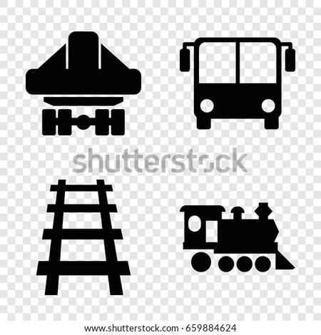 passenger icons set set of 4