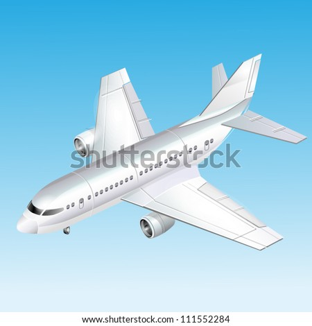 Passenger plane vector illustration