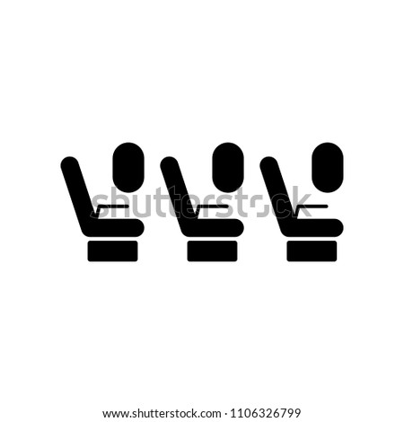 passenger seats in the plane icon. Element of travel icon for mobile concept and web apps. Detailed passenger seats in the plane icon can be used for web and mobile. Premium icon on white background