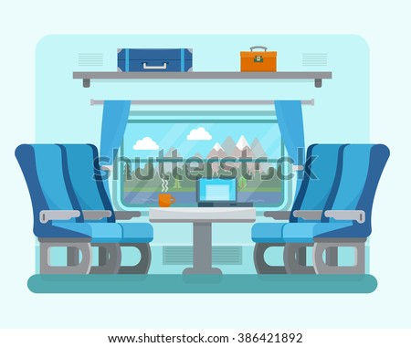 passenger train inside seat in