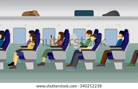 passenger train vector