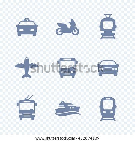 passenger transport icons