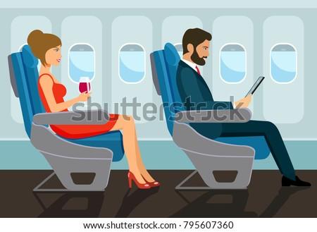 passengers young beautiful girl