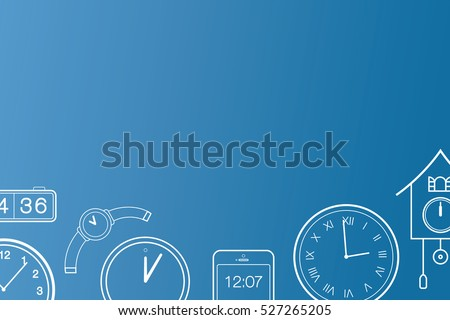 Passing time concept. Running out of time concept. Time is running out, the clock is ticking, act fast, limited time special, act now concept. Email or banner background vector illustration flat art.