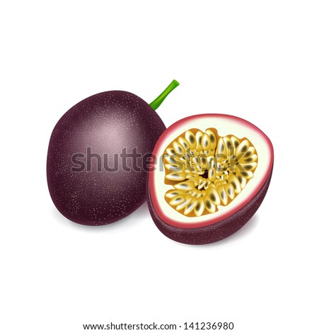 passion fruit and slice