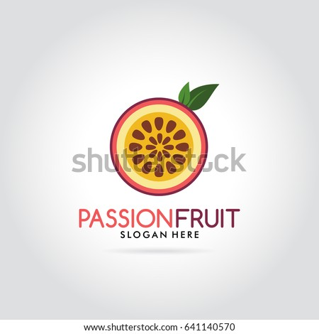 passion fruit fresh modern logo