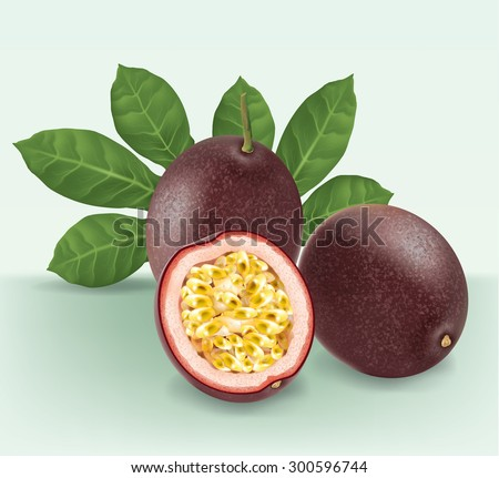 passion fruit with slice