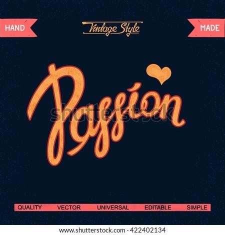 passion vintage vector