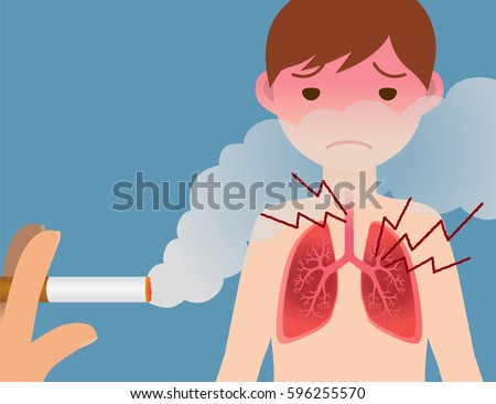 passive smoking concept, second hand smoking, involuntary smoking