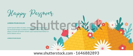 Passover banner. Seder pesach invitation, greeting card template or holiday flyer. happy Passover