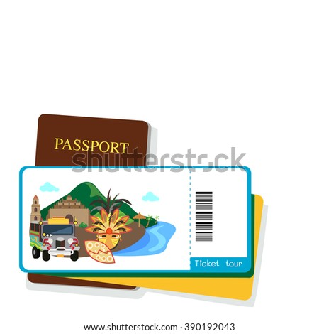 passport and pilipinas tourist