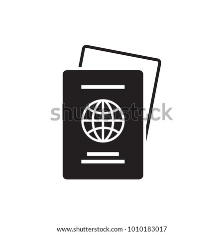 Passport Icon. Vector. Illustration. Isolate on white background.