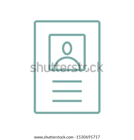 Passport line vector icon. Isolated on a white background. Identification symbol.