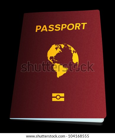 Passport on black, 10eps.