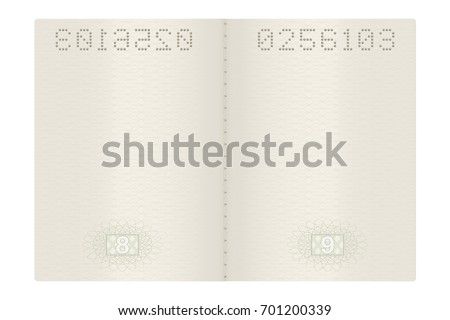 Passport pages. Vector 3d illustration isolated on white background
