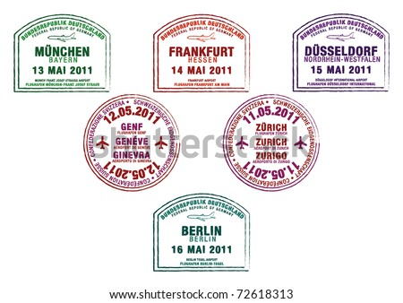 passport stamps from germany