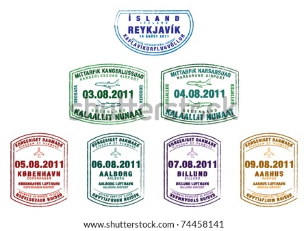 passport stamps from iceland
