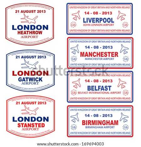 passport stamps of the uk and