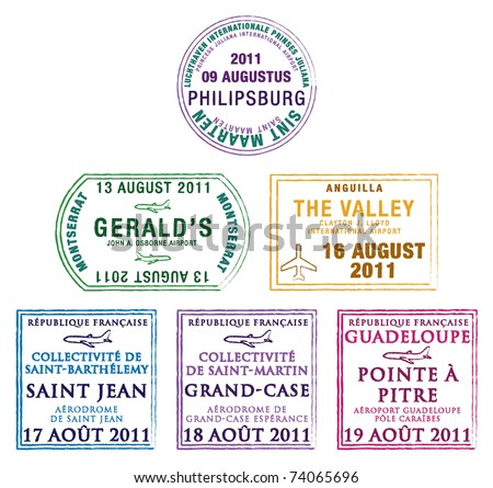 passport stamps of the windward